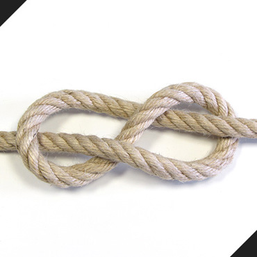 3 strands hemp rope